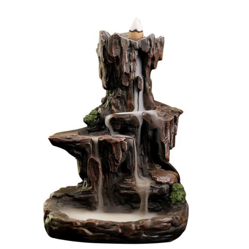 New Lofty Mountains and Flowing Water Backflow Incense Burner Chinese Style Cultural Resin Incense Holder Home Decor OfficeNew Lofty Mountains and Flowing Water Backflow Incense Burner Chinese Style Cultural Resin Incense Holder Home Decor Office