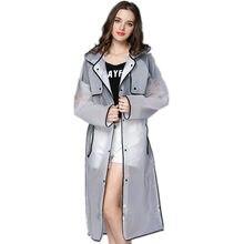 fd35b671d2854 جديد الأزياء إيفا الرجال والنساء المعطف مع قبعة السيدات للماء طويلة شفافة معطف  المطر المعطف الكبار