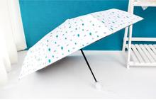 Fully automatic umbrella folding sunny small refreshing triple sunumbrella black rubber shade