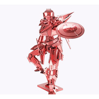 Piececool Special Version Shield Man Knight DIY 3d Metal Nano Puzzle Assemble Model Kits P068 R Laser Cut Jigsaw Toys