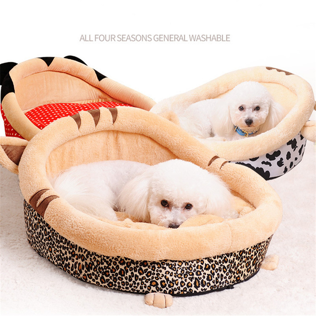 Puppy Cat Dog Pet Bed with Double Sided Sofa Cushion,Waterproof Bottom Most Lovely Pet House Gift GW0114