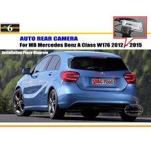 Автомобильная Камера Заднего вида Для Mercedes Benz A Class W176 2012 ~ 2015/Камера заднего вида/HD CCD RCA NTST PAL/Номерной знак Лампа OEM