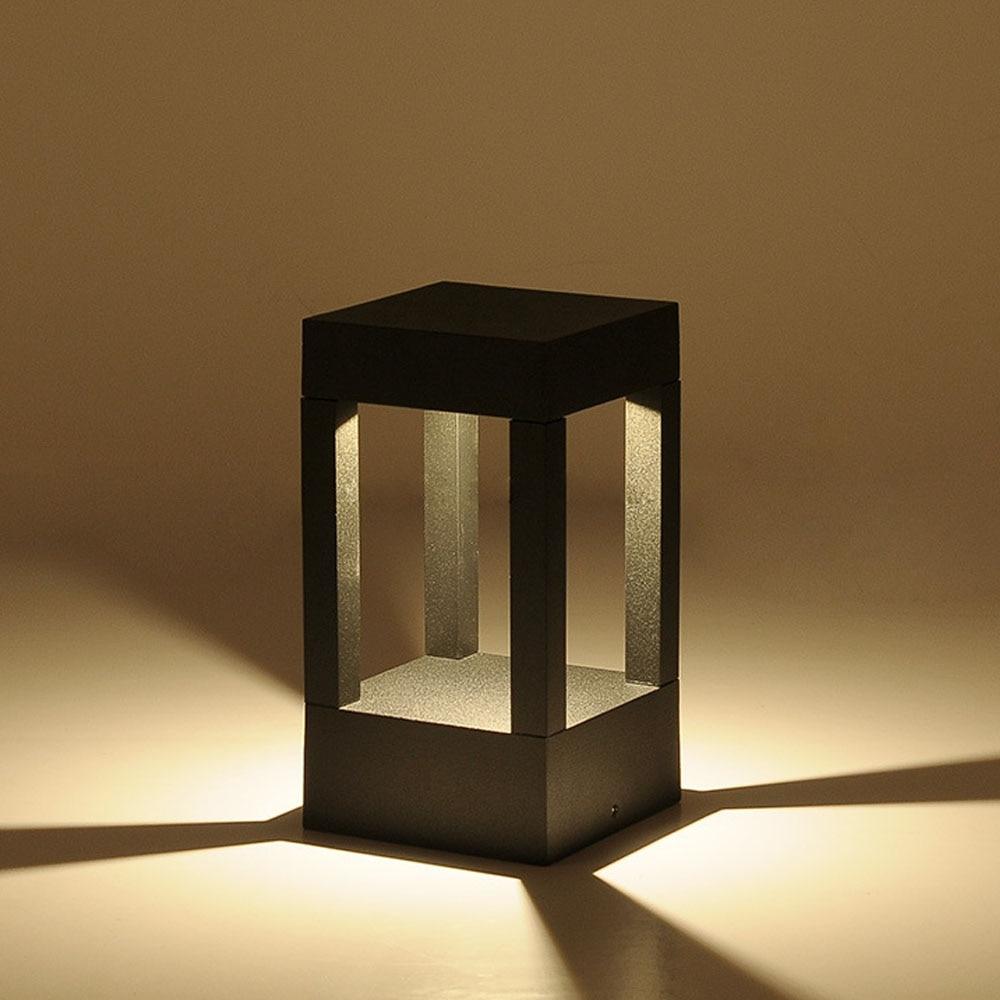 becostar aluminio cinza preto ao ar livre a prova d agua led bollard lampada iluminacao do