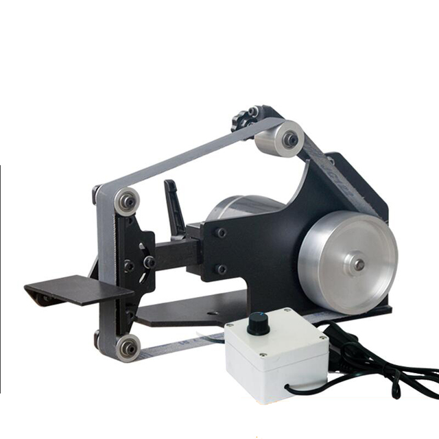 220V Masaüstü zımpara kayışı tezgahı DIY Ahşap parlatma makinesi 0 7500RPM 762x25MM Kemer makinesi Y