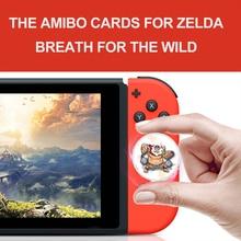 O cartão de jogos de amiibo compatível zelda 23 nfc cartão redondo 20 lobo do coração a lenda da respiração do selvagem ns switch