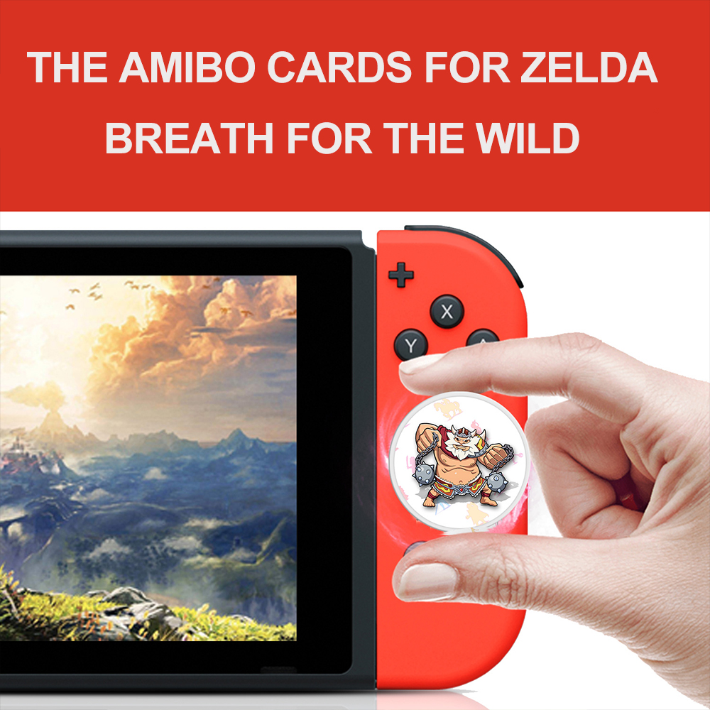 The Games <font><b>card</b></font> of <font><b>amiibo</b></font> Compatible Zelda 23 <font><b>NFC</b></font> Round <font><b>Card</b></font> 20 Heart Wolf the Legend of Breath of the wild NS Switch image