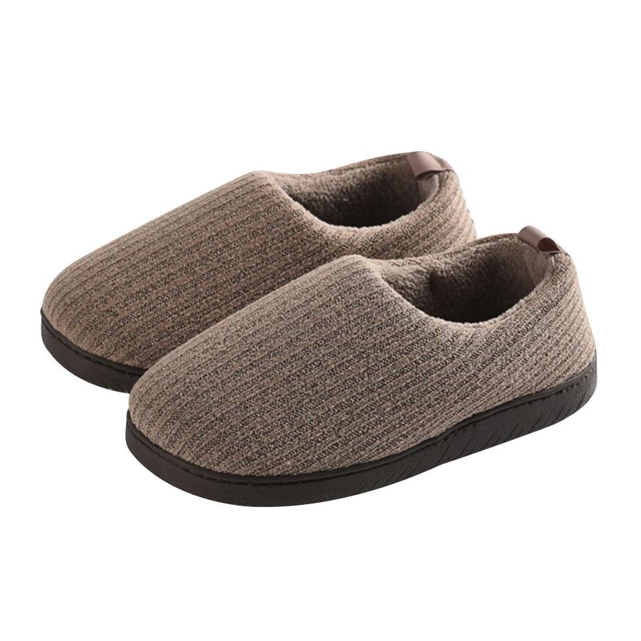Invierno Cálido Coral Cashmere Inicio Zapatillas Cómodo Parte Inferior Suave Mujeres Embarazadas Piso Interior Casuales Zapatos de Algodón Acolchado Pantufa