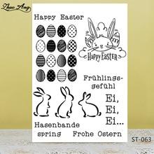 ZhuoAng Easter egg design transparent postcard / sealed DIY scrapbook photo album decorative card to make clear stamps