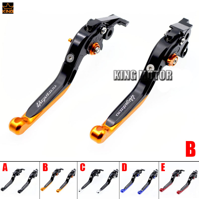 For SUZUKI HAYABUSA GSX1300R 1999-2007 Motorcycle Accessories CNC Adjustable Folding Extendable Brake Clutch Levers Black+Orange black headlight for suzuki hayabusa 1300 gsx1300r 1999 2007 front brand new motorcycle clear light lamp from china