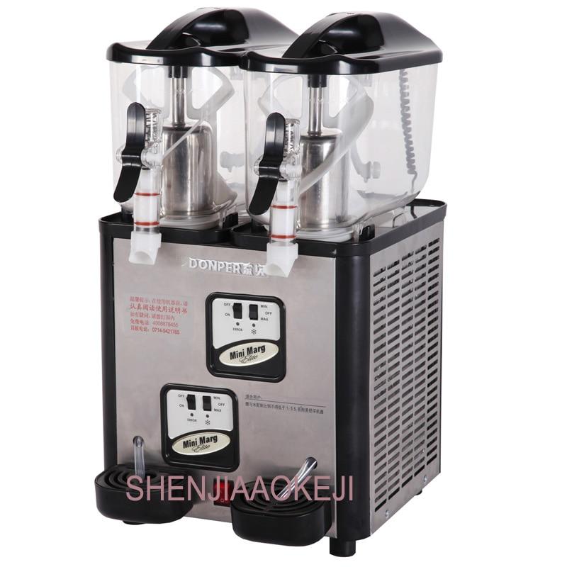 XC212A snow melting machine desktop double cylinder 6L*2 mini snow melting machine Small commercial Slush machine 220V 1PC cheap good double tank used slush machine margarita slush frozen drink machines