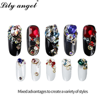 Lily angel 2019 Hot Newest 1 Box Nail Rhinestone Mixed Size Studs Manicure 3D Art Decorations Tips Charms