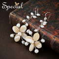Special New Fashion Natural Pearls Drop Earrings 925 Sterling Silver Ear Hook Flower Ear Piercing Jewelry Gifts for Women S1637E