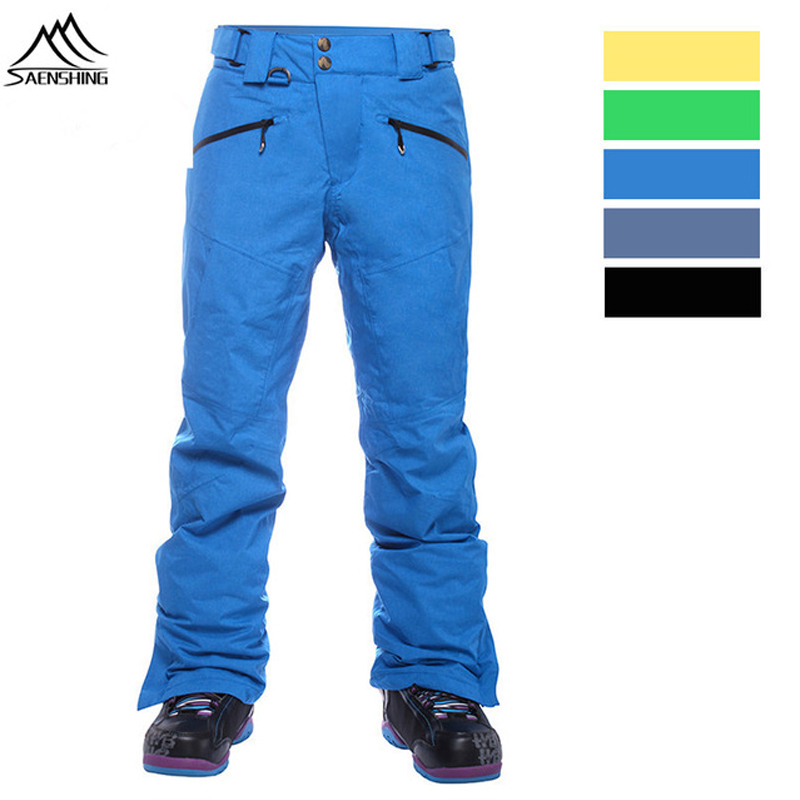 SAENSHING 10K Waterproof Snowboard Pants Men Winter Ski Pants Man Breathable Snow Pant Brand Male Skiing Trousers -30 Degree