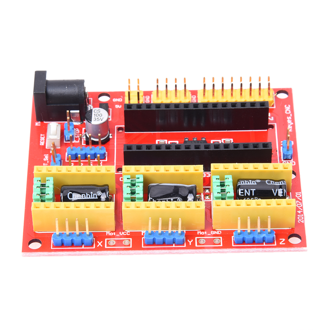 1 x Red CCL CNC V4 engraving machine expansion board For Arduino GRBL hf 3dv3 cnc v3 expansion module red
