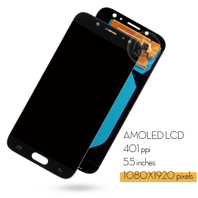 5.5 inch AMOLED Display J7 Pro for SAMSUNG Galaxy J7 Pro 2017 LCD J730 Display Touch Screen J730F for SAMSUNG J7 Pro Replacement