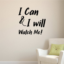 Drop Shipping I can will Positive Sentence Home Decoration Self Adhesive Wall Art Decal For Office Room Decor Bedroom Mural