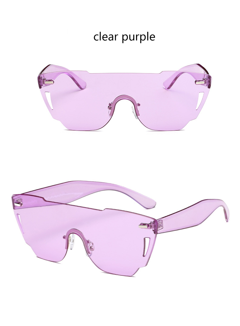 HTB1KvdNRXXXXXXGXFXXq6xXFXXX3 - Candy Color Sunglasses Flat Top Rimless Sunglasses