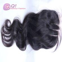 GQ Stock!Brazilian virgin hair lace closure brazilian body wave closure human hair closure natural color Brazilian lace closure