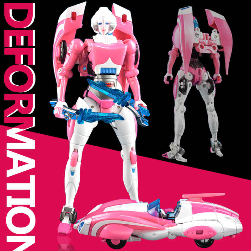 G1 Transformation Arcee Alloy IDW Oversize Enlarge Female Action Figure Robot
