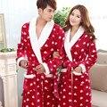 Novo Inverno Suave Flanela Robes Mulheres Moda High-end Red Polegares Qualidade Roupão de Banho para Senhoras Pijama Frete Grátis
