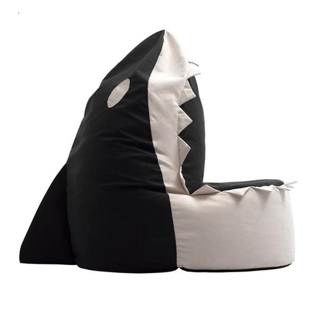 Free Shipping 70 70 80cm Shark Beanbag Sofa Cover Velvet Easy Cub
