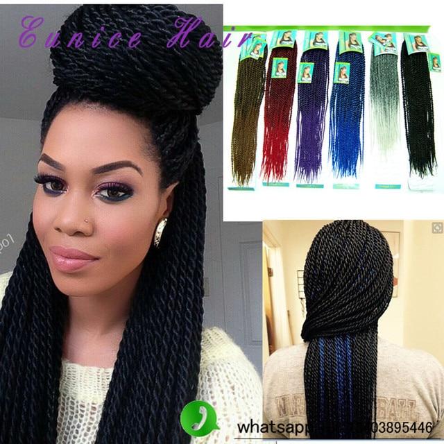 Crochet Hair Already Twisted : 6PCS Pre-twisted Hair Senegalese Cheap Synthetic Hair Black Crochet ...