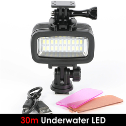 30M wodoodporne podwodne światło led do kamery Super jasne nurkowanie lampa wypełniająca nadaje się do GOPRO kamera sportowa sjcam