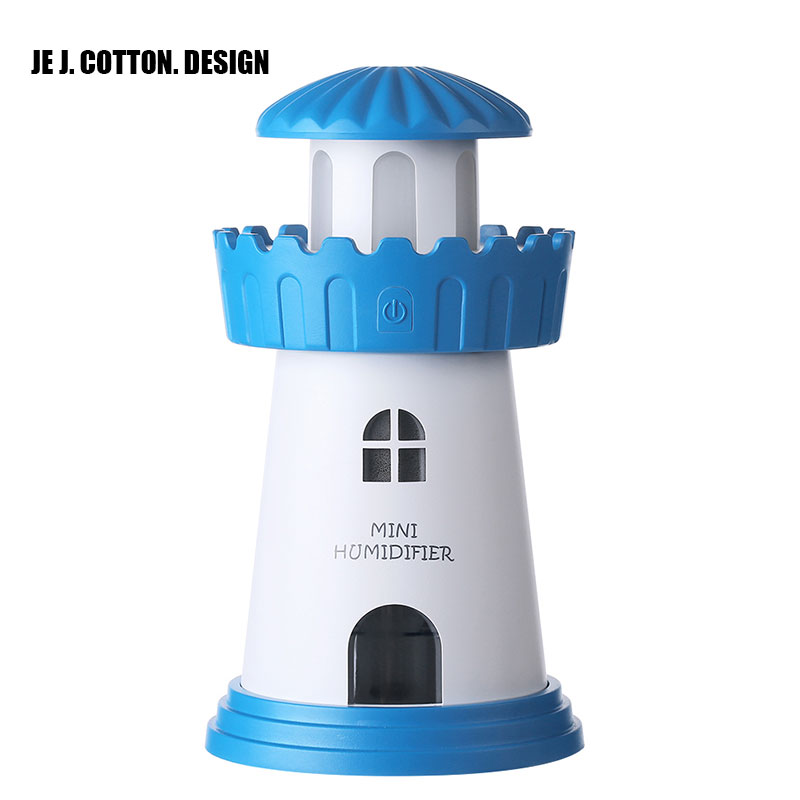 Classic Lighthouse Air Humidifier USB Car Ultrasonic Mist Maker Fogger Essential Oil Diffuser Aroma Light Home Appliances 150ml 2017 new cute bowling shape 7 colors led light air ultrasonic humidifier essential oil diffuser 150ml mist maker fogger dc 5v