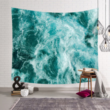 New Beach Waves Tapestries Colorful Psychedelic Indian Tapestry Wall Hanging Printed Decoration shawl sunscreen