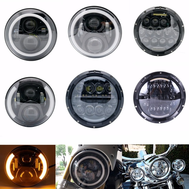 White Angel Eyes 7 Inch Led Headlight For Honda CB400 CB500 CB1300 Hornet 250 600 900 VTECVTR250 DOT Approved