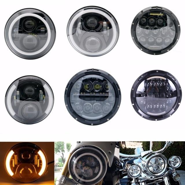 White Angel Eyes 7 Inch Led Headlight For Honda CB400 CB500 CB1300 Hornet 250 600 900 VTECVTR250 DOT Approved