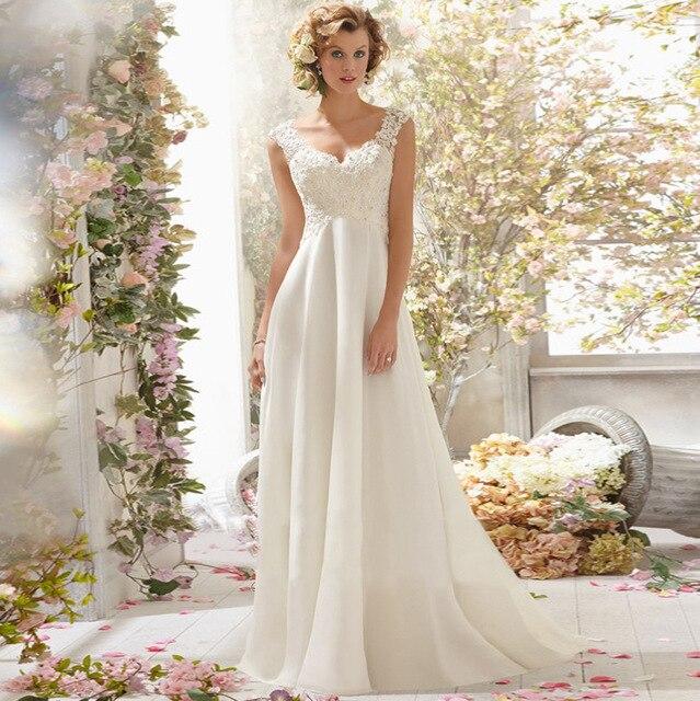 LAMYA Wedding Dress 2019 Beach Bridal Gown Chiffon Lace Appliques Wedding Dresses White/Lvory Backless Vestido De Noiva 3