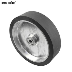 300*75mm Belt Grinder Solid Rubber Contact Wheel  Dynamically Balanced