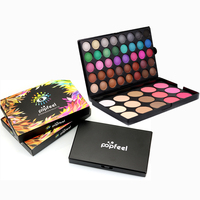 2017 Brand POPFEEL Professional 55 Colors Eyeshadow Palette Makeup Maquiagem Beauty Palette Original Colors Make Up