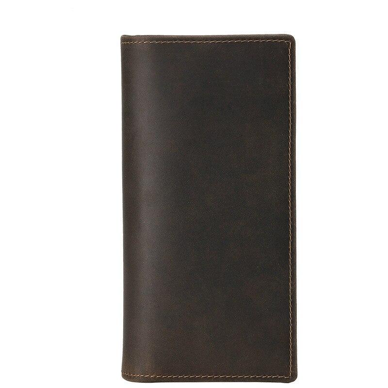 Homme standard portefeuilles crazy horse en cuir 2018 nouveau mode hommes marque vintage véritable portefeuille en cuir cartes & IDENTIFICATION supports d'argent clips