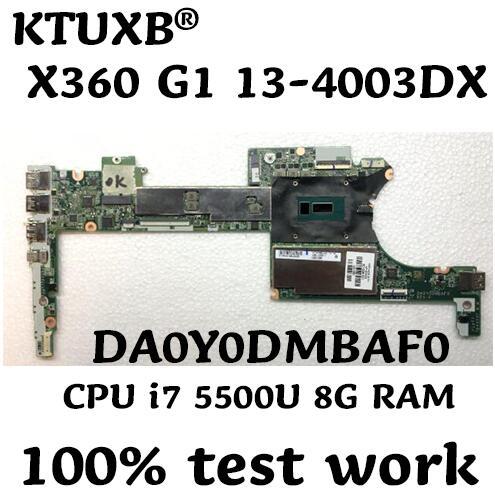 DA0Y0DMBAF0 for HP X360 G1 13 4003DX notebook motherboard 801505 501 801505 001 CPU i7 5500U