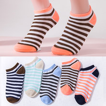 5 colors Women Ankle Socks Girls Stripes Boat Socks Fashion Lady Summer Short Casual Socks New Dropshipping(China)