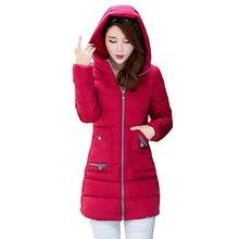New winter coat jacket size slim slim down cotton girls long coat with cap style diversity  down coat Loose coat Waist jacket