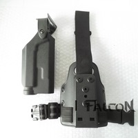 Leg Holster Plastic Holster/Magazine Pouch For Colt 1911 with Flashlight