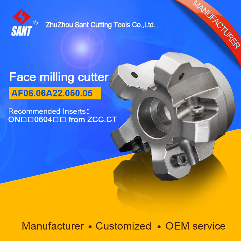Indexable milling cutter milling tools Match insert ONHU08T5 face cutter cutting disc FMA07-050-A22-ON06-05/AF06.06A22.050.05 high precision milling tools high quality milling cutter emp02 050 a22 ap11 06