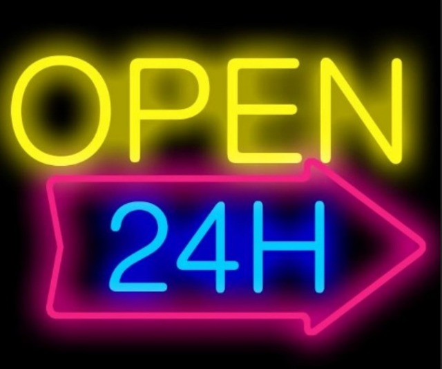 Custom Open 24H Neon Light Sign Beer Bar