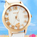 DISNEY New Fashion Brand  Women Casual Quartz Watch Clock Lady Girl MICKEY Analog Dress Watch Relojes Waterproof Wristwatch