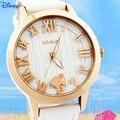 Disney novas mulheres marca de moda relógio de quartzo relógio ocasional senhora menina mickey analógica dress watch relojes relógio de pulso à prova d' água