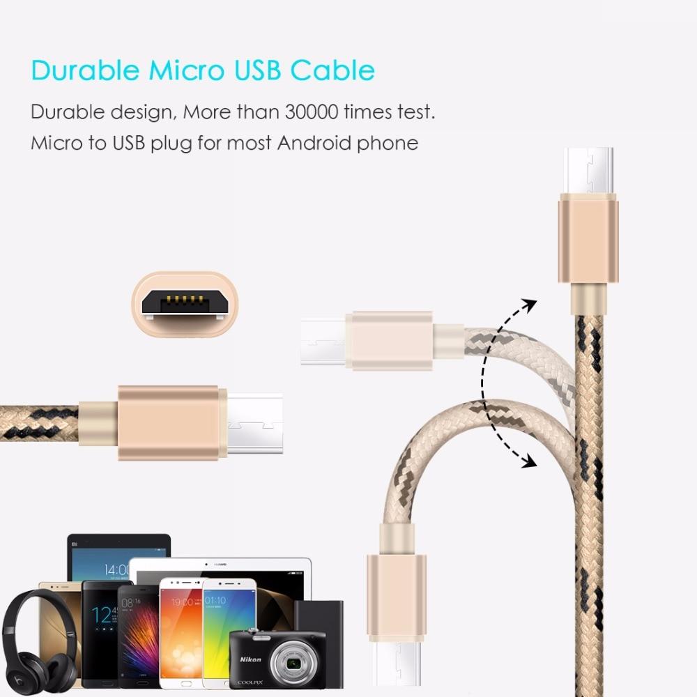 SUPTEC Micro USB Kabel Cepat Pengisian Adapter untuk Samsung S6 S7 J5 - Aksesori dan suku cadang ponsel - Foto 3