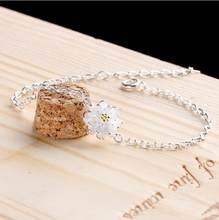 NEHZY – bracelet en argent sterling 925 pour femme, bijoux à la main, fleur de lotus, de haute qualité, à la mode, longueur de chaîne 19cm, nouvelle collection