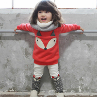 Girls Winter Clothes Fox Children Clothing Sets Baby Pullover Autumn Toddler Girl Tracksuit Kids Sport Clothes