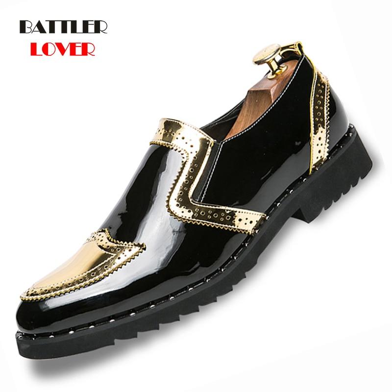 Men Brogue Shoes 2019 Fashion Driving Shoe Genuine Leather Mens Loafers Mocassins Spring Autumn Leisure Shoes Man Footwear Shoe