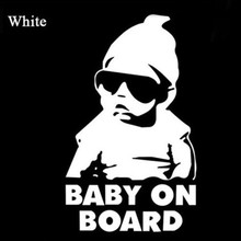 Cool Baby On Board White/Black For Rear Windshield