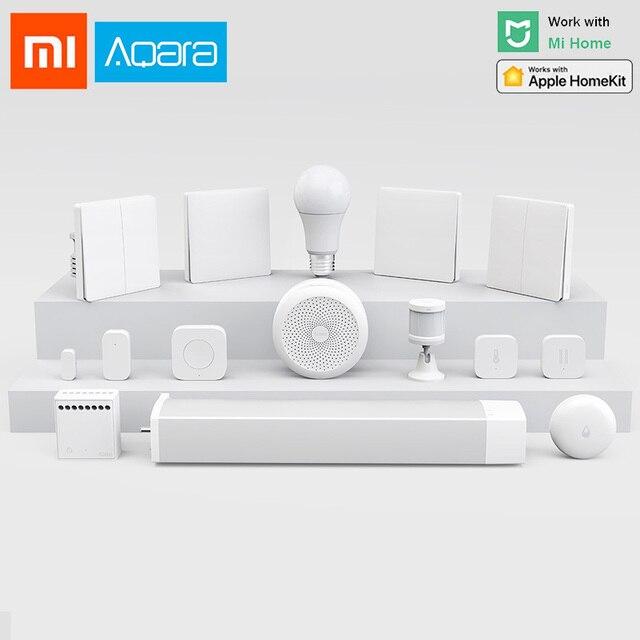 Xiaomi aqara Hub Smart Home Kits puerta ventana Sensor Cuerpo Humano interruptor inalámbrico humedad agua Sensor para Apple Homekit