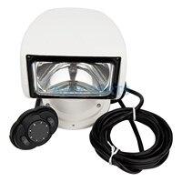 Marine Boat Spotlight Remote Control Searchlight Truck Car RV 24V 100W Bulb